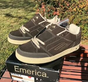 Emerica Heritic 3 Skate Shoes MENS Size 7 NEW in Box Brown Tan NOS