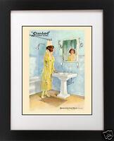 Antique Toothbrush Dental Bathroom CAMPING Lodge Cabin Rustic BATH Art PRINT