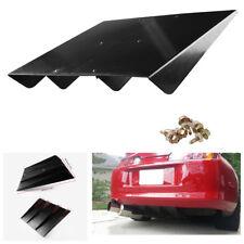 """22"""" x 19.3"""" ABS Plastic Black Car Auto Rear Bumper Lip 4 Fins Diffuser Shark Fin"""