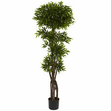 Ruscus Tree Artificial Silk Plant Knotty Trunks Nearly Natural 5'Home Decoration