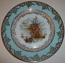 Vintage Porcelain Sailing Ship Plate Germany Jkw