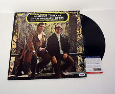 PLACIDO DOMINGO THREE TENORS SIGNED MILNES DUETS VINYL RECORD ALBUM PSA/DNA COA