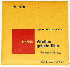 Kodak Wratten 47B Gelatin 3 inch (75mm) Filter NEW UNOPENED