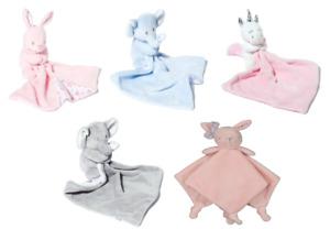 BABY COMFORTER - BUNNY, UNICORN OR ELEPHANT - New
