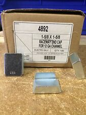 "(4892) P1180 1-5/8"" Raceway  End Cap for Unistrut / B-Line Channel Qty. 25"