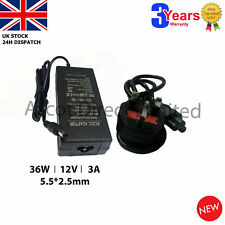 12V 3A 36W Power Supply Adapter for LCD Screen ZGEMMA, CLOUD, BOX, LED, Wifi Box