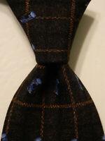 ERMENEGILDO ZEGNA Men's 100% Silk Necktie ITALY Luxury Geometric Gray/Black EUC
