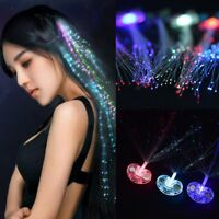 LED Light-up Hair pin Clip Fiber Optic Rave Party Christmas Wedding Accessories