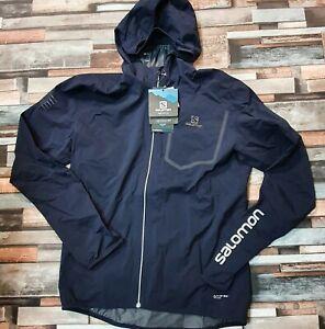 Salomon Bonatti Pro Waterproof Hooded Jacket, Night Sky, Men's Medium RRP £275