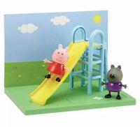 Peppa Pig Peppa's Playground Slide playset + 2 figures Peppa & Danny Dog NEW