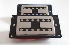 New Set Humbuckers Noiseless - Frame Black For Hh