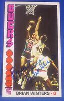 BRIAN WINTERS signed autograph 1976-77 Topps Milwaukee Bucks