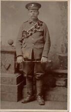 """Soldier with Ammunition Pouch, Studio Photograph"" Photograph, Postcard"