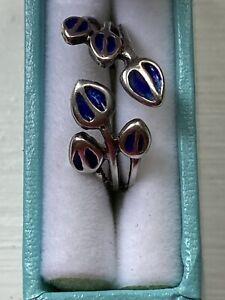 Nirman Grant Scottish Silver & Enamel Ring
