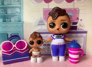 LOL Surprise Boys Series 2 - Bro Cheer And Lil Brother Bro Cheer Dolls Set.