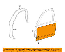 FORD OEM-Door Skin Outer Panel Left 3W7Z5420201AA