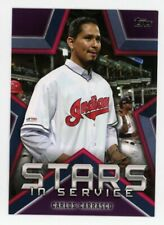 2021 Topps CARLOS CARRASCO Rare STARS IN SERVICE INSERT #SIS-8 Cleveland Indians