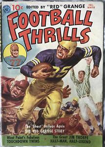1951 Ziff-Davis Football Thrills #1 Red Grange VG Condition