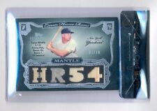 MICKEY MANTLE 2006 STERLING 4X RELIC #7/10 BGS 9 MINT JERSEY NUMBER 1/1 YANKEES