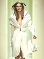 Gianni VERSACE 2005 Runway Ivory Shawl Collar Belted Jacket Coat US 8 10 / IT 46