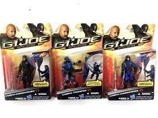 GI Joe Retaliation Cobra Commander Black/Blue  Cobra Trooper Lot Hasbro 2011 MOC