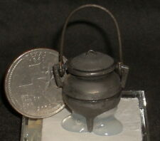 Bean Pot / Early Style Kettle removable lid 1:12 Mini #G-125 Antique Tin Finish
