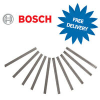 10 x Genuine BOSCH 82mm Reversible TCT Planer Blades Set  2607001292