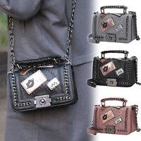 Modern Style Ladies Hand Handbag Purse Fashion Retro Designer Tote Bag Chain