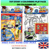 Large A4 Kids Children's Toy Story 4 Colouring Set - Colouring Play Pack Set Fun
