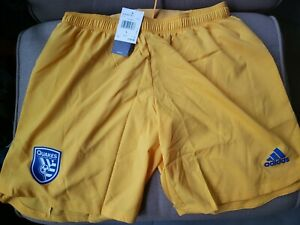 NWT ADIDAS San Jose Earthquakes MLS Authentic Shorts Mens large adizero