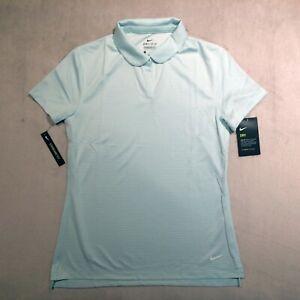 Nike Golf Dri-FIT Victor Womens Polo Shirt Cyan Aqua Mint Standard Fit Small