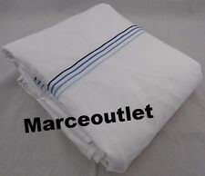 Frette Cruise Collection Sateen KING Duvet Cover White / Blue Embroidery
