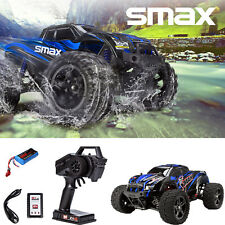 REMO 1/16 RC Monster Truck 4WD Off-Road Brushed 2.4Ghz Remote Control Car Blue