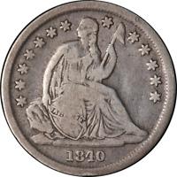 1840-O Seated Liberty Dime Choice VG/F Superb Eye Appeal Nice Strike