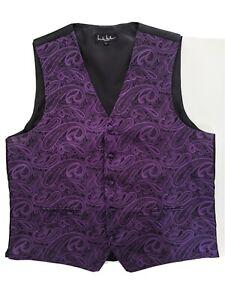 Authentic vintage mens Nicole Miller pure silk Black pattern waistcoat
