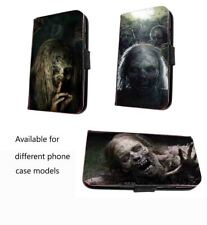 Zombie scary phone case faux leather walking dead case for iPhone Samsung Huawei
