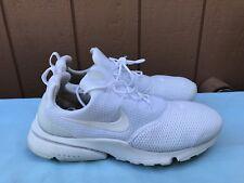 $130 Women's Nike Presto Fly Casual Shoes US 9 White/White/White 910569 101 A6