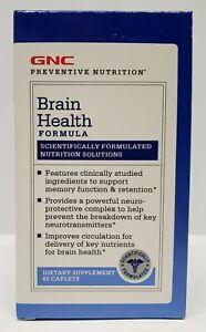 GNC Brain Health Formula Dietary Supplement Nutrition 60 Caplets # 714112