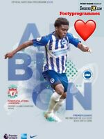 Brighton v Liverpool 2020 Premier League Programme  Free Post In Stock Now
