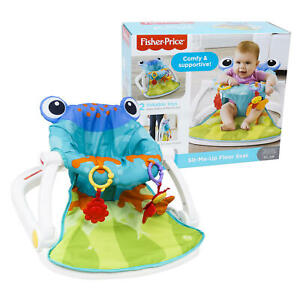 Fisher Price Sit-me-up Baby Floor Seat Multicolor (Frog Pattern) - Free Shipping