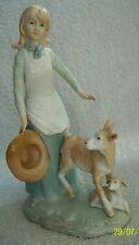 More details for goat & kid. beautiful girl. figurine. well modelled. vintage. 9