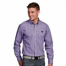 NEW Washington Mens Associate Button-Down Dress Shirt Purple Small (Alt Logo)