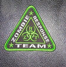 ZOMBIE RESPONSE ZRT HUNTER OUTBREAK BIOHAZARD LIME GREEN IRON ON PATCH