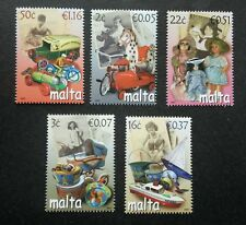Malta Old Time Toys 2007 Pastime Dolls Children Car Ship Child Play (stamp) MNH