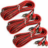 3 Pack DS18 17 Ft RCA Cable 2 Channel Interconnect Shielded Audio Cables Amp