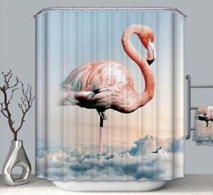Pink Flamingo Waterproof Shower Curtain