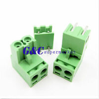 10/50 2EDG 5.08mm Pitch 2Pin Plug-in Screw Terminal Block Connector Right Angle