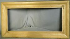 Antique Arts Crafts Gilt OGEE Picture Frame Yard Long NOT Brass Corners 12x28