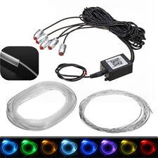RGB 5 LED 6m Glasfaser Lichtfaser Kabel Bluetooth APP Auto Innen Beleuchtung Set