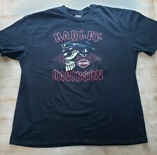Harley Davidson T-shirt Skull Graphic Fort Myers Florida Size 3XL Black XXXL '08